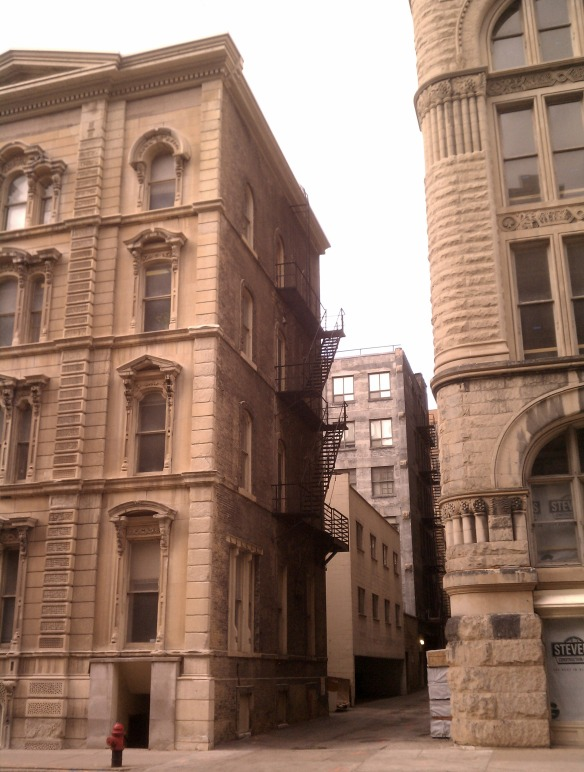 Two Old Buildings with Alley in Milwaukee, WI