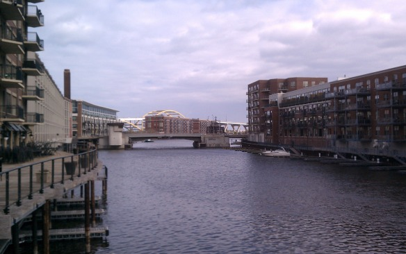Milwaukee River with new Housing, 794 Bridge in Background