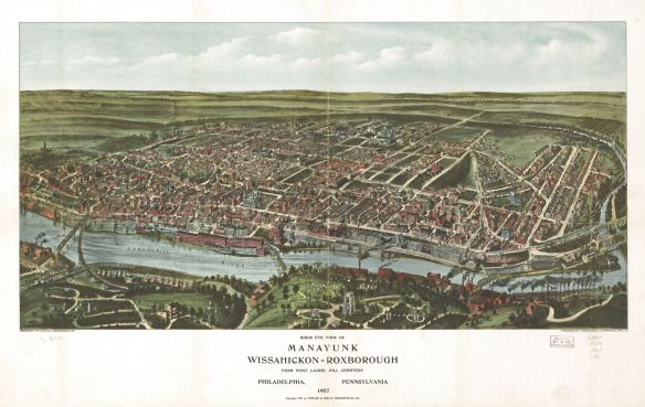1907 View of Manayunk, Philadelphia