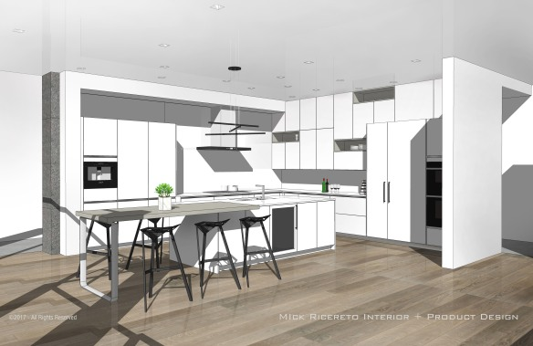 White Modern Kitchen by Mick Ricereto